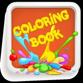 Coloring Book - Cartoon icon