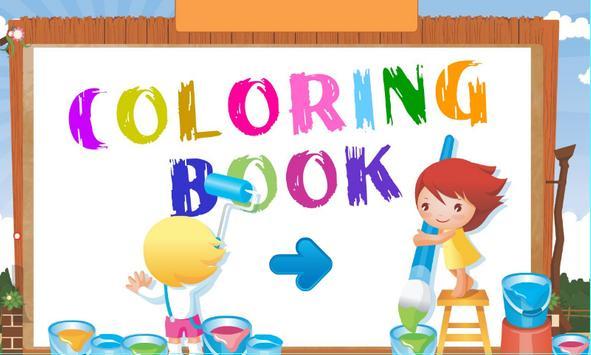 Coloring Book - Cartoon poster