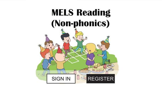 Mels Reading (Non-phonics) poster