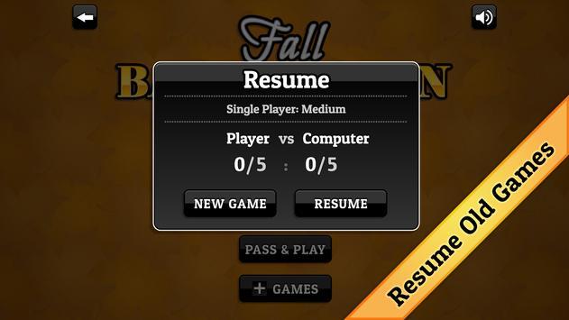 Fall Backgammon screenshot 4