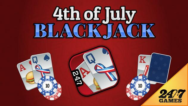 4th of July Blackjack poster