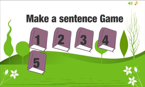 Make a sentence Game apk screenshot