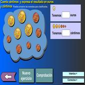 Suma euros y céntimos icon