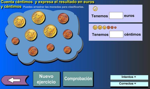 Suma euros y céntimos poster