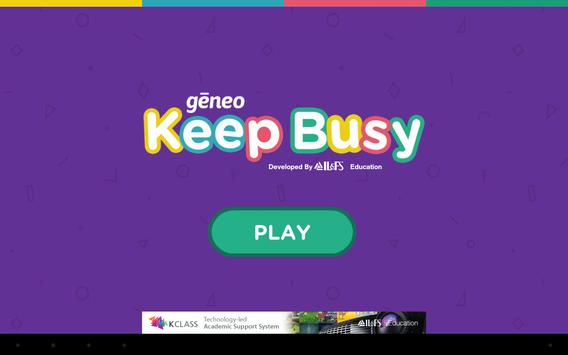 Geneo - Keep Busy - Lines poster
