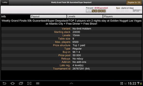 Golden Nugget Poker apk screenshot