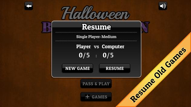 Halloween Backgammon screenshot 4