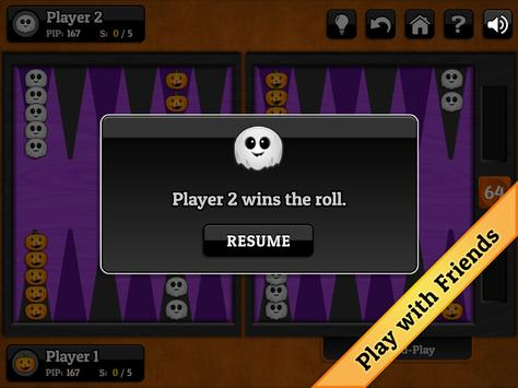Halloween Backgammon screenshot 7