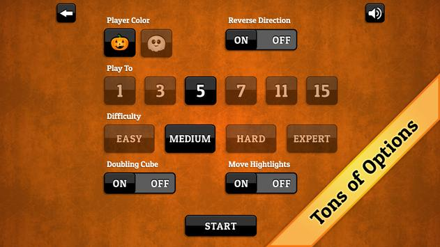 Halloween Backgammon screenshot 3