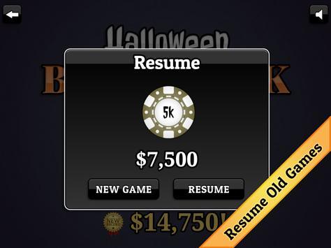 Halloween Blackjack screenshot 14