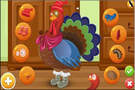 Turkey Dress Up - Animal Games screenshot 3