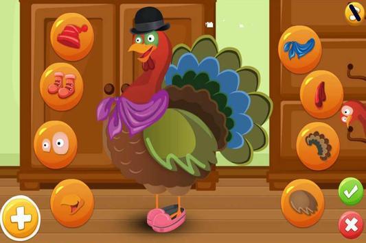 Turkey Dress Up - Animal Games screenshot 2
