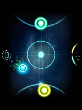 Glow Air Hockey Space apk screenshot