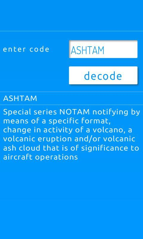 ICAO Codes and Abbreviations for Android - APK Download