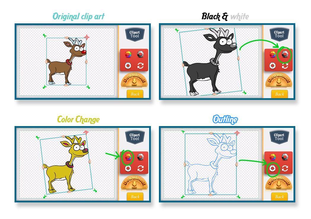 Clipart Of Reindeer - ClipArt Best