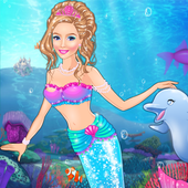 Icy Queen Mermaid Dressup icon