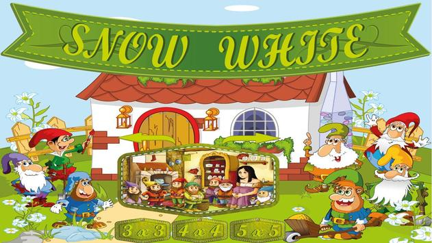Snow White Kids Puzzle Game poster