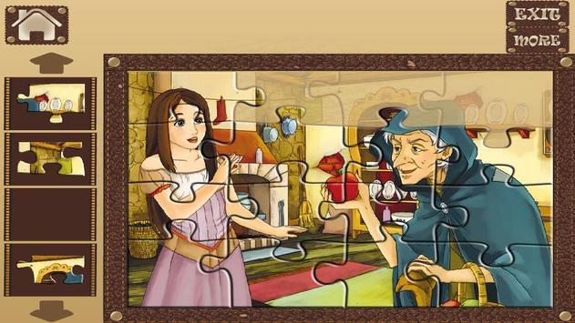 Snow White Kids Puzzle Game apk screenshot