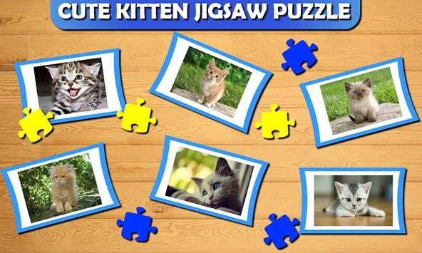 Cute Cat Kitty Jigsaw Puzzle poster
