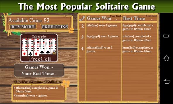 Freecell Patience Solitaire apk screenshot