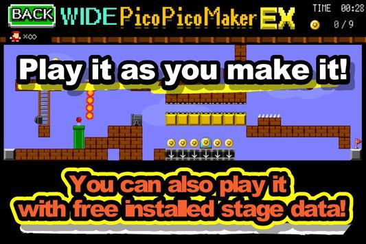 【ワイド版】アクション作ろう。ピコピコメーカーEX apk スクリーンショット