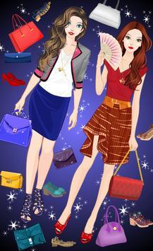Best Friends Fashion Dress up poster
