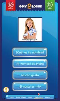 Learn 2 Speak Spanish Unit 1 apk screenshot