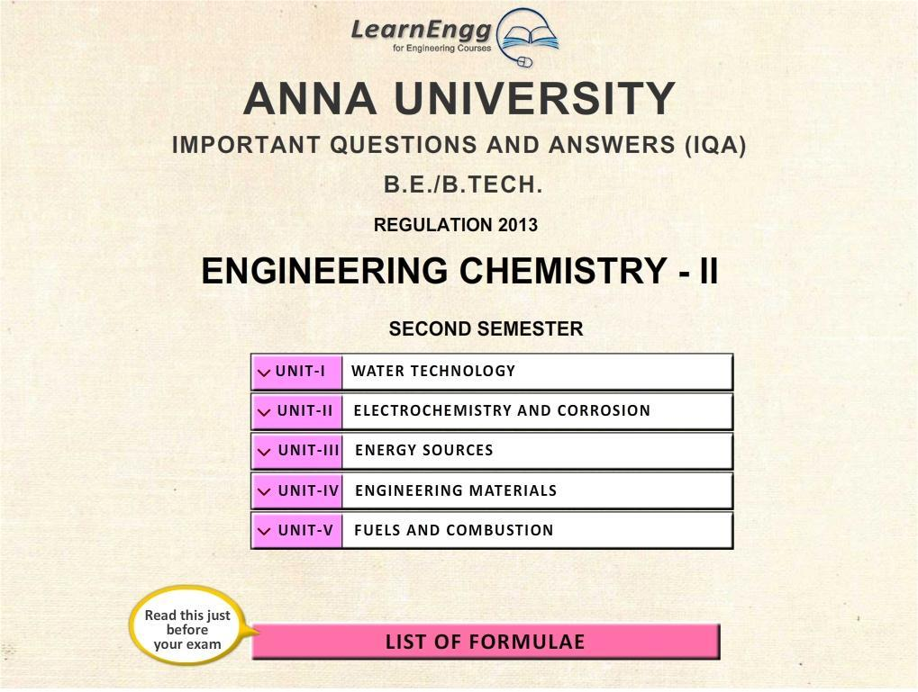 Anna Univ  Engg Chemistry–II for Android - APK Download