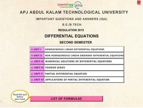 KTU Differential Equations apk screenshot