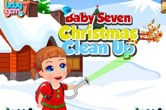 Baby Christmas Clean Up poster