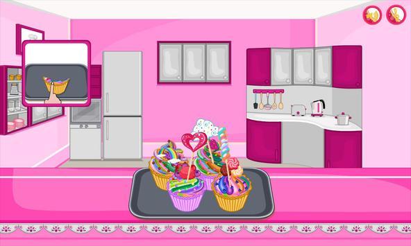 Bake multi colored cupcakes screenshot 7