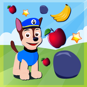 Twin Paw Puppy Falling Apple icon