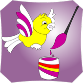 childrens coloring game icon