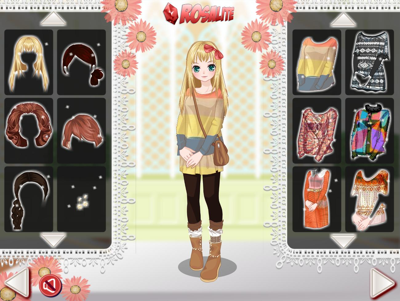 Cute Anime girl Fashion - Dress up & Face Makeup pour Android