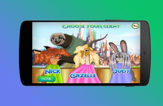 Zootopia Hair Salon screenshot 1