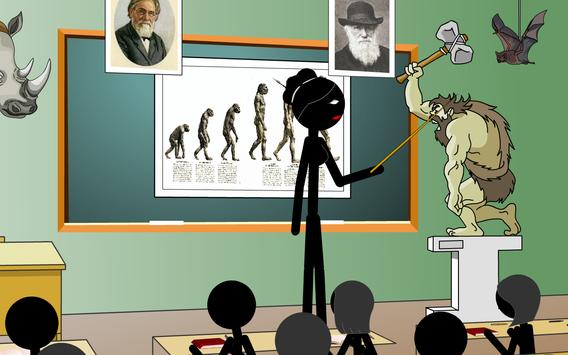 Stickman mentalist. School evil. Monday screenshot 1