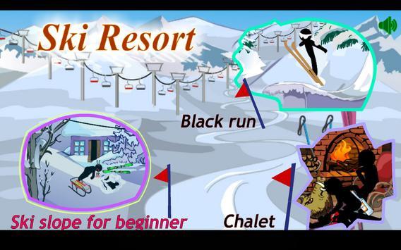 Stickman Extreme Skiing poster