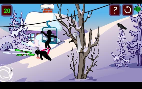 Stickman Extreme Skiing apk screenshot