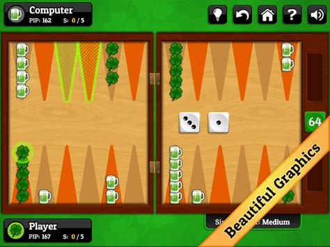 St. Patrick's Day Backgammon screenshot 6