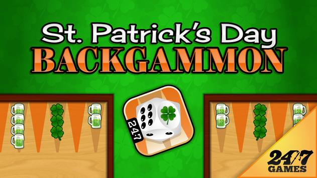 St. Patrick's Day Backgammon poster