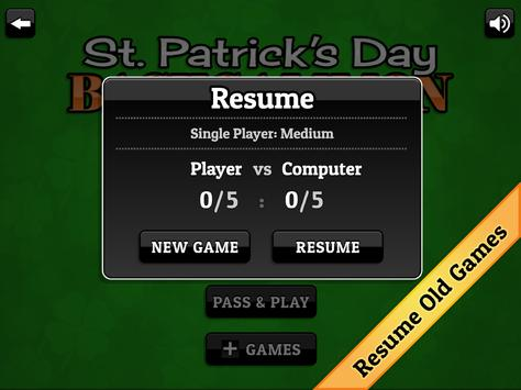St. Patrick's Day Backgammon screenshot 14