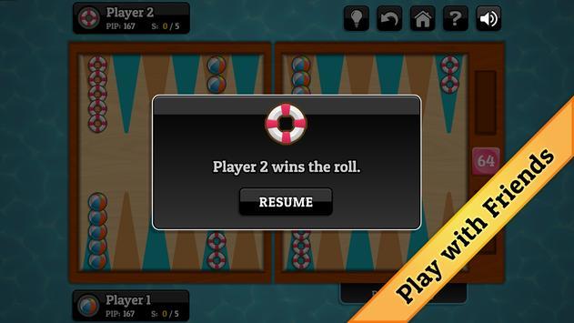 Summer Backgammon apk screenshot