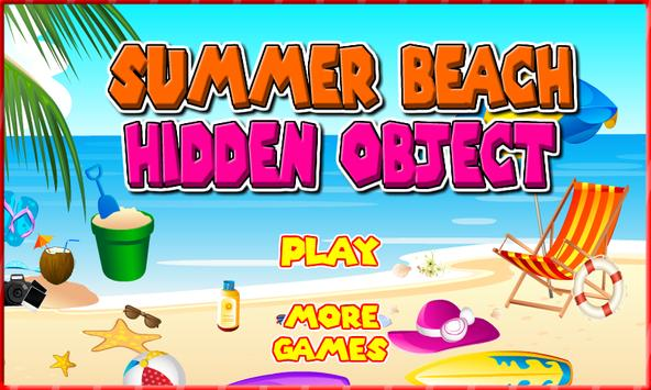 Hidden Object : Summer beach poster