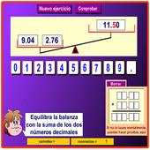 Suma  números decimales icon