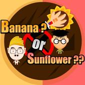 Banana or sunflowers icon