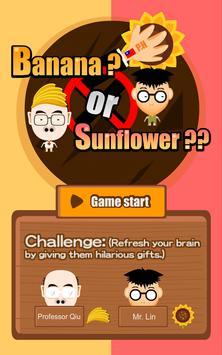 Banana or sunflowers apk screenshot