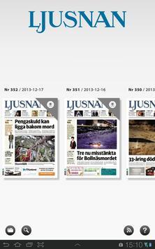 Ljusnan e-tidning apk screenshot