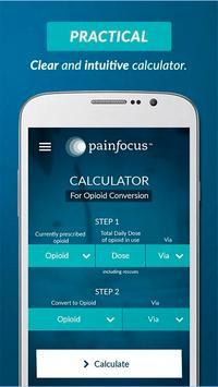 PainFocus™ Opioid Calculator poster