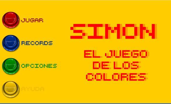 Simón. El juego de los colores poster