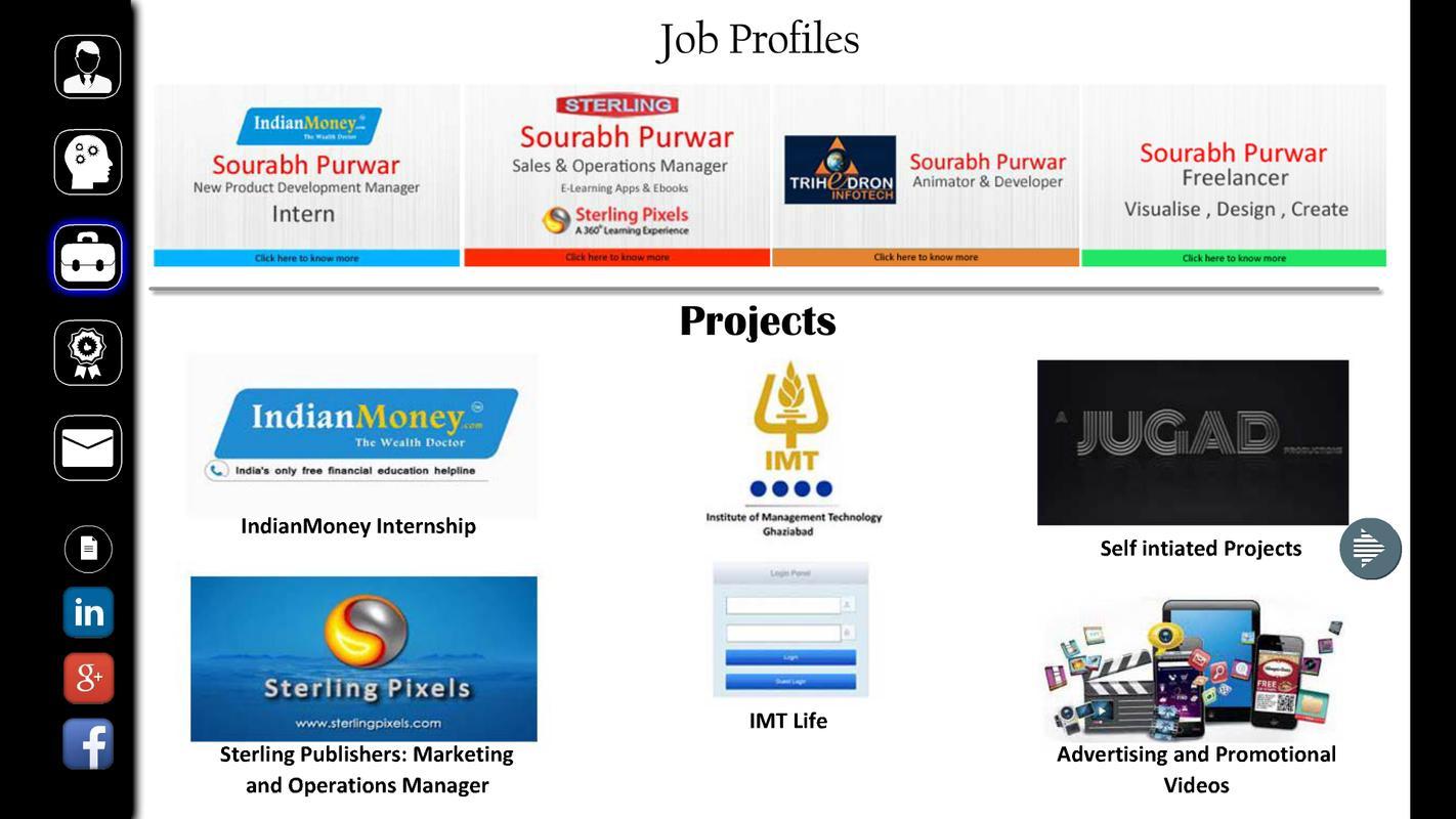Interactive Resume Sourabh P Apk
